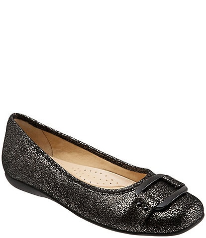Trotters Sizzle Metallic Leather Ballet Flats