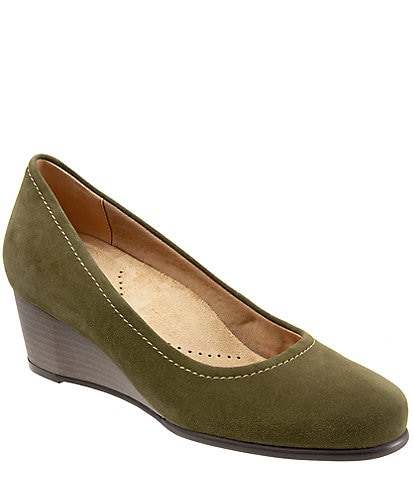 Trotters Winnie Suede Wedge Pumps