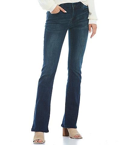 True Religion Becca Mid Rise Signature Horseshoe Stitch Back Pocket Bootcut Jeans