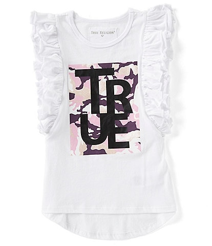 True Religion Big Girls 7-16 Flutter-Sleeve Floral Graphic Tee
