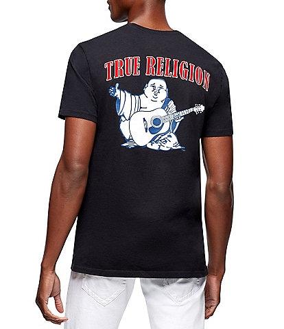 True Religion Buddha Logo Crew Neck Short-Sleeve Graphic T-Shirt