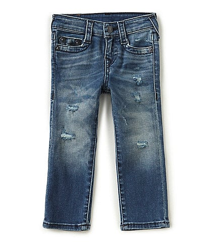 True Religion Little Boys 2T-7 Geno Destructed Jeans