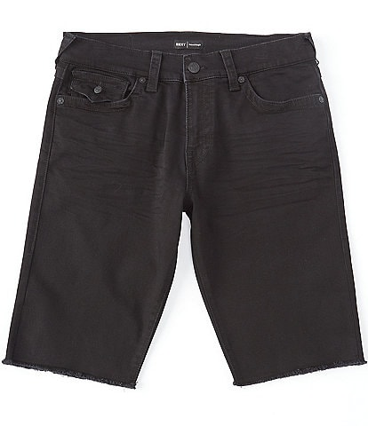 True Religion Ricky Fit Raw Edge 13#double; Inseam Denim Shorts