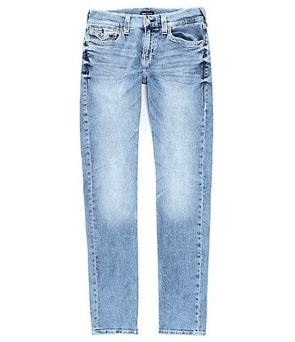 True Religion Rocco Back Flap-Pocket Skinny Jeans