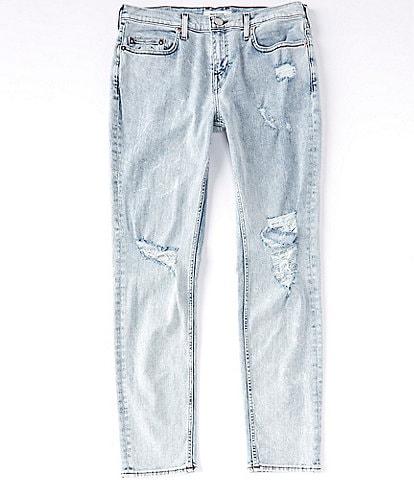 True Religion Rocco Damaged Slim Fit Skinny Jeans