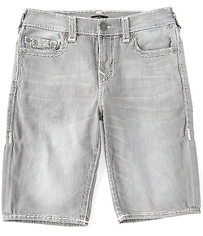 True Religion Straight-Fit Ricky Super T 11#double; Inseam Denim Shorts