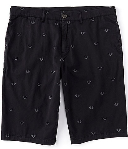 True Religion True Embroidered Horseshoes 13#double; Inseam Chino Shorts