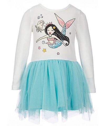 Truly Me Little Girls 2T-6X Mermaid Drop-Waist Tutu Dress