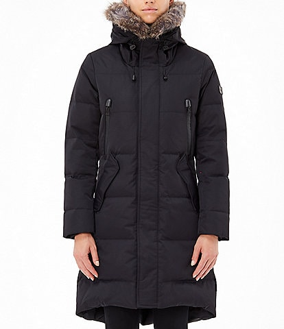 Tumi Arctic Down Faux Fur Trim Drawcord Hooded Storm Parka