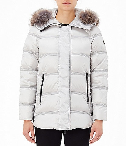 Tumi Luxe Faux Fur Trimmed Hooded Down Parka