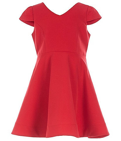 Tween Diva Little Girls 4-6X Bow-Back Fit-And-Flare Dress