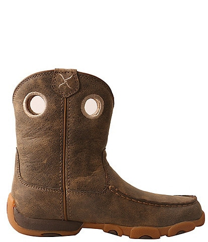 Twisted X Boys' Driving Moc Leather Boots Toddler