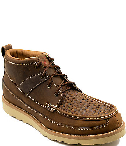 Twisted X Men's 4#double; Woven Leather Wedge Sole Boots