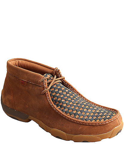 Twisted X Men's Driving Woven Leather Chukka Moccasins