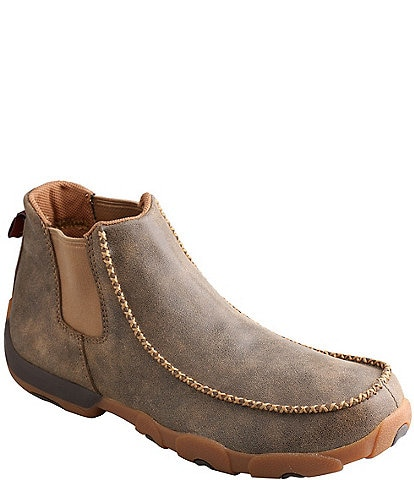 Twisted X Men's Slip-On Chukka Leather Driving Moccasin Boot
