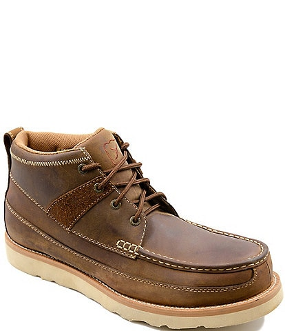 Twisted X Men's Work 4#double; Steel Toe Leather Wedge Sole Boot