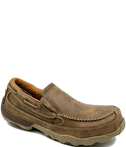Twisted X Men's Work Steel Toe Chukka Driving Moccasins