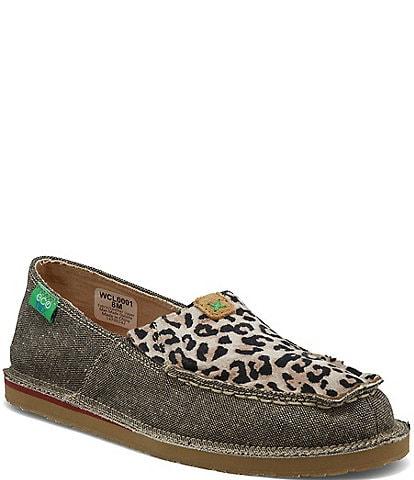 Twisted X Women's ecoTWX® Leopard Slip On Loafers