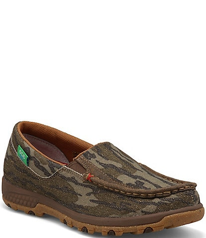 Twisted X Women's ecoTWX® Mossy Oak® Slip On Driving Moccasins with CellStretch®