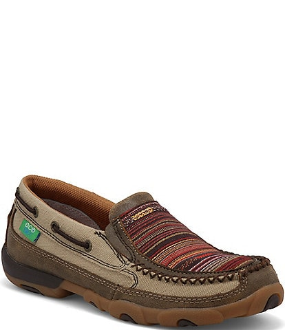 Twisted X Women's ecoTWX® Multi Stripe Slip On Driving Moccasins