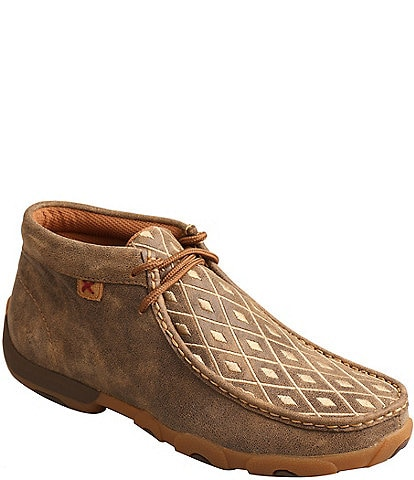Twisted X Women's Embroidered Chukka Driving Mocs