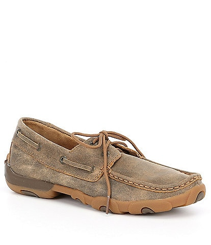 Twisted X Women's Leather Boat Driving Mocs