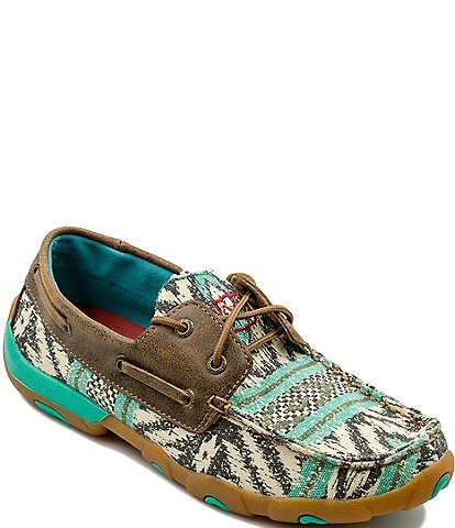 Twisted X Women's Printed Boat Driving Mocs