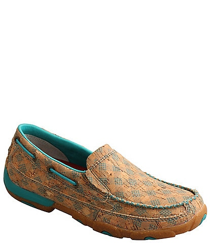 Twisted X Women's Printed Cork Slip On Driving Mocs
