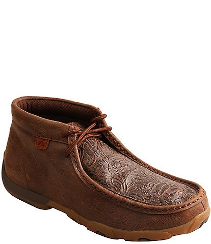 Twisted X Women's Tooled Leather Chukka Driving Mocs