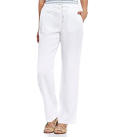 Two by Vince Camuto 4-Pocket Wide Leg Drawstring Linen Pants