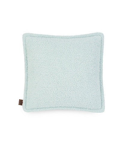UGG® Ana Sweater-Knit & Sherpa Reversible Square Feather Pillow