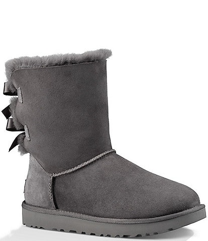 UGG® Bailey Suede Bow II Water-Repellent Boots