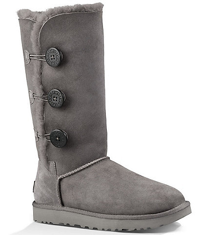 UGG® Bailey Suede Button Triplet II Water-Repellent Boots