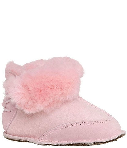 UGG® Girls' Boo Suede Crib Shoes