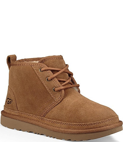 UGG® Boys' Neumel II Suede Booties Toddler