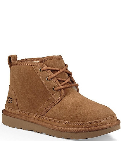 UGG® Boys' Neumel II Suede Booties Youth