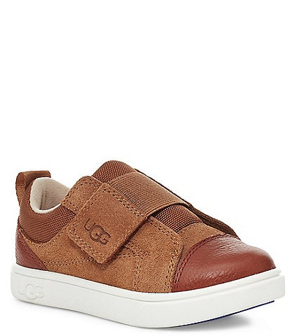 UGG® Kids' Rennon Low Suede Leather Sneakers (Toddler)