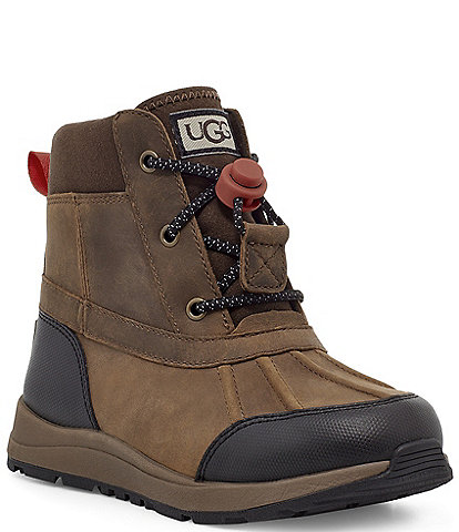 UGG® Boys' Turlock Leather Weather Waterproof Winter Boots (Toddler)
