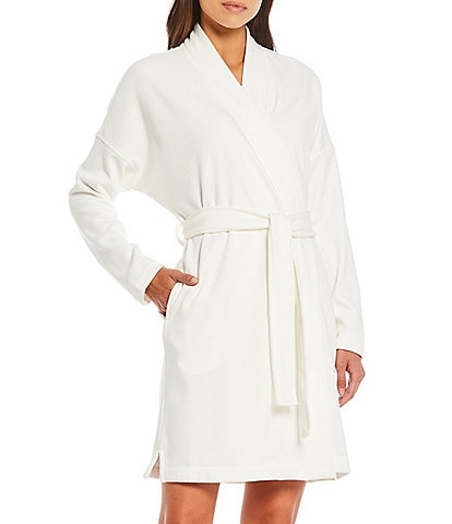 UGG Braelyn II Solid Knit Fleece Short Wrap Robe