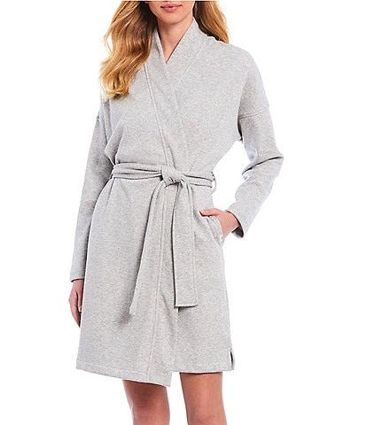 UGG® Braelyn II Solid Knit Fleece Short Wrap Robe