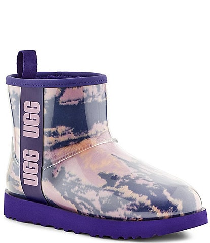 UGG® Classic Clear Marble Mini Waterproof Winter Boots