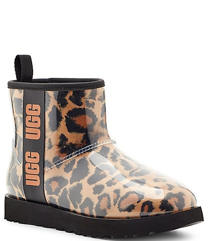 UGG® Classic Clear Panther Print Mini Waterproof Winter Boots