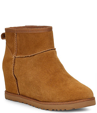 UGG® Classic Femme Suede Mini Wedge Boots