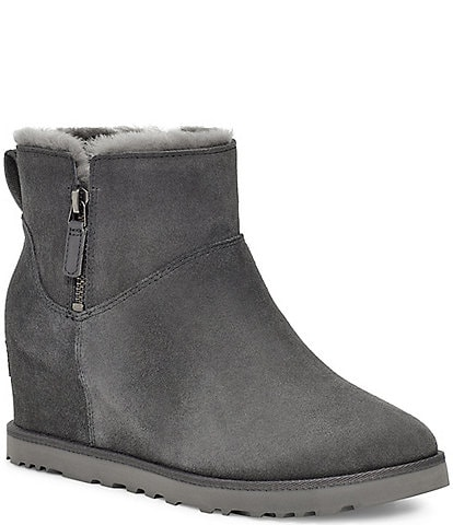 UGG® Classic Femme Zip Mini Water Repellent Suede Boots