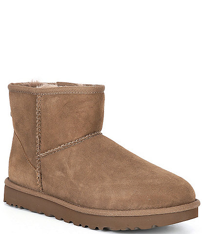 UGG® Classic Mini II Stitch Detail Water-Resistant Ankle Booties