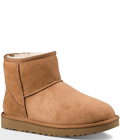 UGG® Classic Mini II Stitch Detail Water-Repellent Ankle Booties