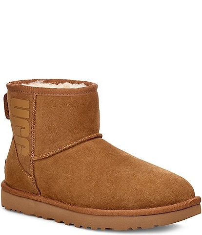 UGG® Classic Suede Mini UGG Rubber Logo Boots