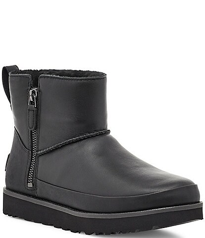 UGG® Classic Zip Mini Waterproof Leather Boots