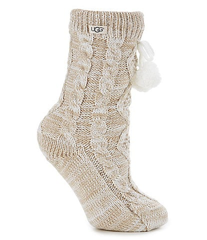 UGG® Cozy Crew Socks with Pom Poms