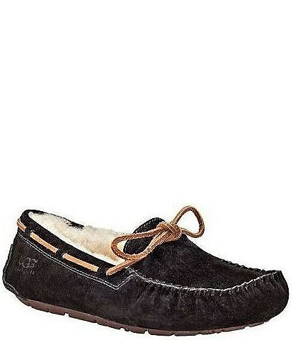 UGG® Dakota Moccasin Leather Lace & Bow Slip-On Slippers
